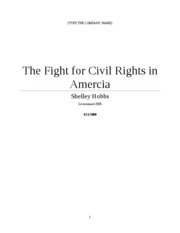 Fight for civil rights in amercia