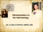 2011 Hermeneutics of Dr. Jih