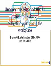 Unconscious Bias in Health Care Workplace(1).pptx