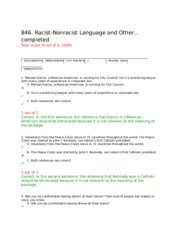 COM140 Week 2 Racist-Nonracist_Language