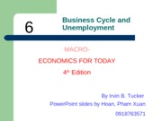 ECO210 - Chapter 6 - Business Cycles and Unemployment