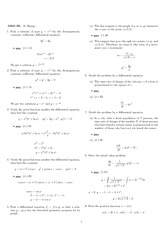 Homework 1 Solution Fall 2007 on Differential Equations with Linear Algebra 1
