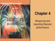 Week 4 ACCY 111 2013  Measuring and Reporting Financial Performance FOR BLACKBOARD