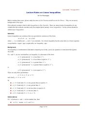Lecture Notes on Linear Inequalities.pdf