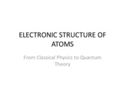 ELECTRONIC STRUCTURE OF ATOMS