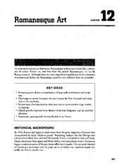 Chapter 12 Romanesque Art AP Study Guide