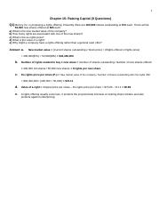 COMM363 - Chapter 15 (Answers)