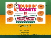 Dunkin Donuts vs Krispy Kreme Final Presentation