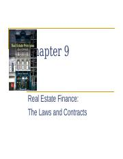 Ch 9 RE Finance Laws & Contracts (SP19V1).pptx