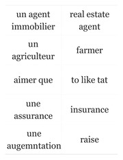 French Two Exam Four Vocabulary