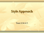 Style Approachchp4