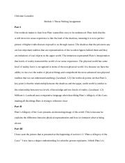 Module 1 Thesis Writing Assignment C. Gonzalez.docx