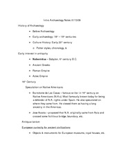 Intro Archaeology Notes 01-13