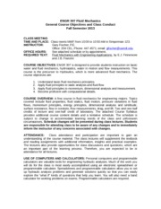 Engr 307 Course Objectives and Class Conduct Fall 2013