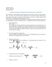 A Review of Hypothesis Testing Q
