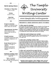 Writing Center General Information
