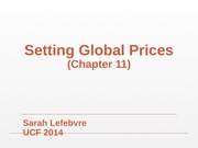 Lecture 11- Setting Global Prices MAR 4156 - International Marketing