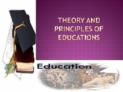 theory and Principles of Education 2