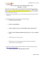 Week 4 Homework Sheet--Ethics and the Rutland Institute - without video.pdf
