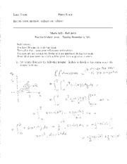 Practice Midterm 10B Fall 2014 (Solved)