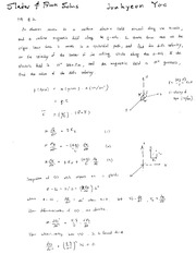 Homework Solutions on Magnetic Fields