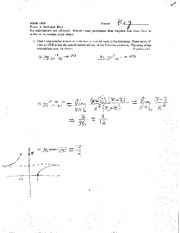 Exam A Summer 2011 Solutions on Calculus