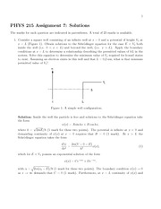 Phys 215 Assignment 7