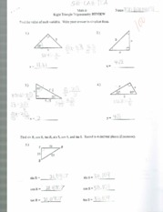 right angle trig review