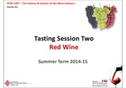 Tasting Two - Red Wine