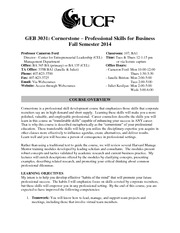 Cornerstone Syllabus - Fall 2014
