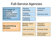 Full-Service Agencies