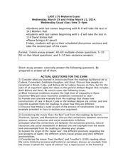 Study Guide Spring 2014 Midterm-Final