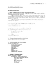 Micro Lecture Study Guide Exam  4.doc
