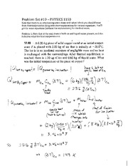 Problem Set 10 Theromdymanic Solutions