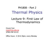 Lecture 9 - First Law of Thermodynamics_updated