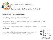 2Matrices - Ch. 1.3 (part), 1.4, 1.7