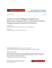 Corporate Cash Holdings and Adjustment Behaviour in Chinese Firms.pdf