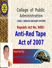 pae1myreport-antiredtapeactsimplified-130714044303-phpapp02