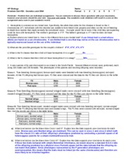 Genetics Problem Set_2014 A key