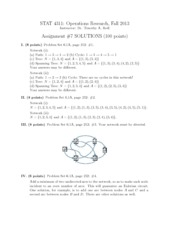 Assignment 7 Solution