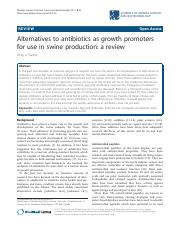 Alternatives to antibiotics as growth promoters for use in swine production a review