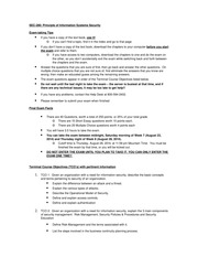 SEC280 Final Exam Facts and Study Guide August 16 2014