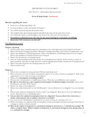 Exam 2 Review Sheet - L01