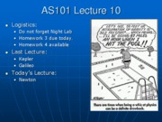 AS101 Lecture 10