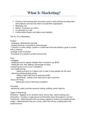 Note - What Is Marketing