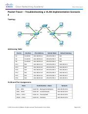 3.2.4.8 Packet Tracer Danny Stevens- Troubleshooting a VLAN Implementation - Scenario 2 Instructions