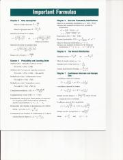 Stat Formulas & Table's