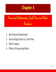 Chapter 03 Financial statements, cash flows and ratio analysis