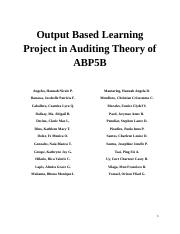 Output-Based-Learning-Project-in-Auditing-Theory-of-ABP5B-1