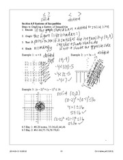 Systems of Inequalities Notes